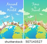 travel to world. road trip.... | Shutterstock .eps vector #507143527