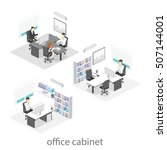 isometric interior of director... | Shutterstock .eps vector #507144001