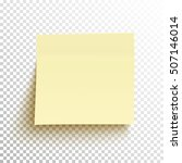 yellow sticky note isolated on... | Shutterstock .eps vector #507146014