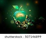 apple. vector illustration of... | Shutterstock .eps vector #507146899