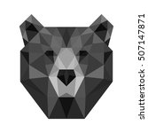 polygon triangle bear head... | Shutterstock .eps vector #507147871