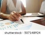 asian business woman manager... | Shutterstock . vector #507148924