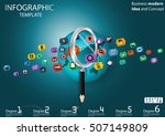 business searching success for... | Shutterstock .eps vector #507149809