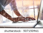 business people on the desk... | Shutterstock . vector #507150961