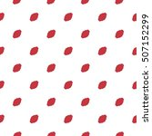 spotted red and white seamless... | Shutterstock . vector #507152299