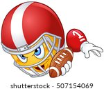 american football player... | Shutterstock .eps vector #507154069