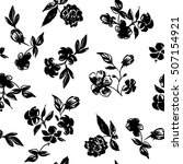 graphic design floral pattern.... | Shutterstock .eps vector #507154921