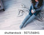 woman with cup of coffee in... | Shutterstock . vector #507156841