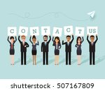 group of businessman and... | Shutterstock .eps vector #507167809