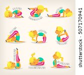 young flexible girl in... | Shutterstock .eps vector #507170941