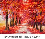 Oil Painting  Colorful Autumn...