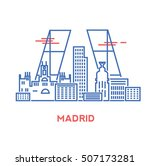 madrid city architecture retro... | Shutterstock .eps vector #507173281