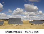 solar panels aligned and faced... | Shutterstock . vector #50717455