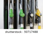 gas nozzles at the gas station | Shutterstock . vector #50717488