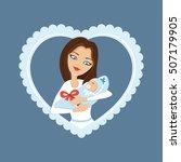 vector illustration. loving... | Shutterstock .eps vector #507179905