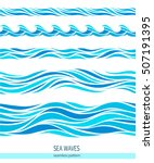 set of seamless patterns with... | Shutterstock .eps vector #507191395