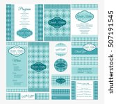 set of wedding cards vector... | Shutterstock .eps vector #507191545