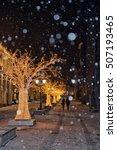 christmas street decoration... | Shutterstock . vector #507193465
