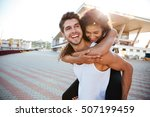 cheerful young couple having... | Shutterstock . vector #507199459