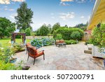 well designed patio area with... | Shutterstock . vector #507200791