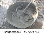 mixing a cement in salver for... | Shutterstock . vector #507205711