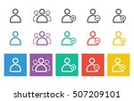 user icon set for web and mobile   Shutterstock .eps vector #507209101