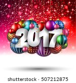 2017 happy new year background...   Shutterstock .eps vector #507212875