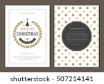 christmas greeting card or... | Shutterstock .eps vector #507214141