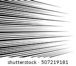 comic speed lines background... | Shutterstock . vector #507219181