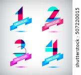 vector set of anniversary retro ... | Shutterstock .eps vector #507220015