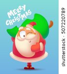 merry christmas illustration.... | Shutterstock .eps vector #507220789