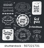 vector set of hand drawn doodle ... | Shutterstock .eps vector #507221731