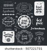 vector set of hand drawn doodle ... | Shutterstock .eps vector #507221731