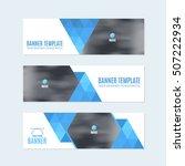 flat style website banner ... | Shutterstock .eps vector #507222934