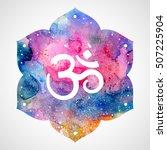 om sign in lotus flower.... | Shutterstock .eps vector #507225904