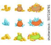 treasure and riches set of game ... | Shutterstock .eps vector #507228781