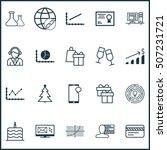 set of 20 universal editable... | Shutterstock .eps vector #507231721