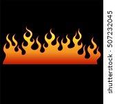 flame tattoo tribal vector... | Shutterstock .eps vector #507232045
