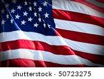 an american flag boldly flying... | Shutterstock . vector #50723275
