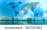 map global logistics... | Shutterstock . vector #507237601