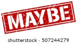 maybe. grunge vintage maybe... | Shutterstock .eps vector #507244279