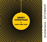christmas greeting card with... | Shutterstock .eps vector #507248329