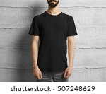 man with t shirt | Shutterstock . vector #507248629