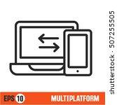 vector lines icon multiplatform | Shutterstock .eps vector #507255505