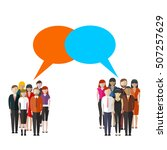 opinion poll flat illustration... | Shutterstock .eps vector #507257629