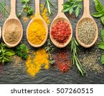 Assortment Of Colorful Spices...