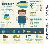 obesity infographic template  ... | Shutterstock .eps vector #507265267