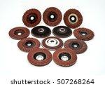 flap sanding grinding discs...   Shutterstock . vector #507268264