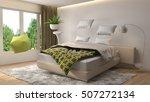 zero gravity furniture hovering ... | Shutterstock . vector #507272134