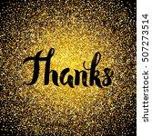 thanks gold design. vector...   Shutterstock .eps vector #507273514